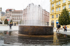 Fountain in Brno - main square Royalty Free Stock Photo