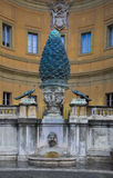 Fountain Bronze Pigna at Vatican Stock Photography