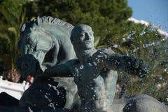 Fountain Bronze Statue Stock Image