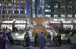 Fountain in Bryant park NYC Stock Photos