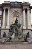 Fountain at the Buda Castle Stock Photos
