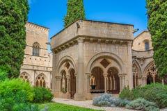 Fountain building at the twelfth century Cistercian monastery of Santa Maria de Poblet, Catalonia.