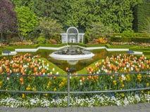 Fountain in Butchart Gardens Stock Photo