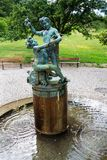 Fountain By Little Frogs in Petrin hill, Prague, Czech Republic. Fountain called By Little Frogs or Playing Boys inspired by Masaryks grandsons by Karel Dvorak royalty free stock image