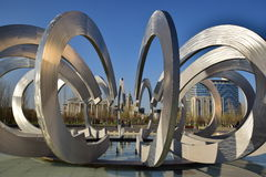 Fountain called WHEEL AND HORSESHOE in Asta Stock Image