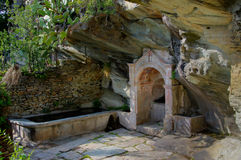 Fountain in Canelle - Corsica (France) Stock Photography