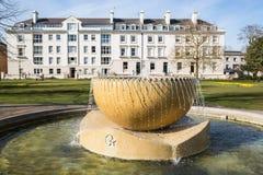 Fountain in Canterbury, Dane John Gardens Stock Image