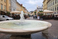 Fountain. Carinthia. Klagenfurt. Austria Royalty Free Stock Photography