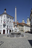 Fountain of Carniolani Rivers, Ljubljana Stock Photo