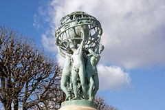 The fountain Carpeaux, the four women-continents bearing the world Paris France. Stock Images