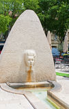 Fountain carved as a female face Royalty Free Stock Image