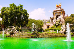 Fountain Cascada a in Barcelona. Catalonia, Spain Royalty Free Stock Photos