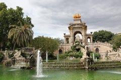Fountain and cascade in park De la Ciutadella in Barcelona, Spai Stock Image