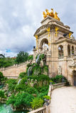 Fountain, cascade in park De la Ciutadella in Barcelona Royalty Free Stock Images