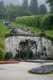 Fountain cascade on the park Linderhof Palace. Beautiful architecture fountain on Linderhof Palace Stock Photography