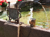 Fountain, Castelrotto (Kastelruth), Italy Royalty Free Stock Image