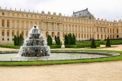Fountain in castle chateau Versailles. Fountain with water in castle chateau Versailles royalty free stock photos