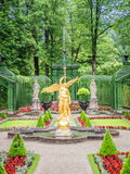 Fountain at castle linderhof Stock Image