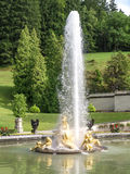 Fountain at castle linderhof Royalty Free Stock Images