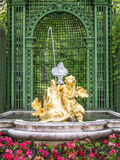 Fountain at castle linderhof Stock Photos