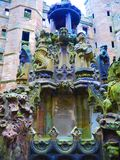 Fountain in the castle. Scotland the part of UK Royalty Free Stock Photos