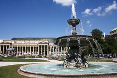 Fountain in Castle square in Stuttgart Stock Photo