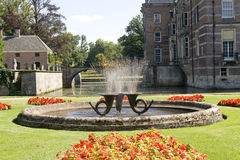 Fountain at castle Twickel Stock Image