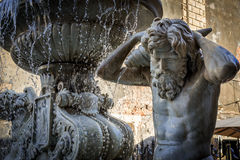 Fountain in Catania. Amenano Fountain near Cathedral Square in Catania, Sicily, Italy royalty free stock photos