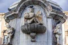 Fountain in Catania royalty free stock photos