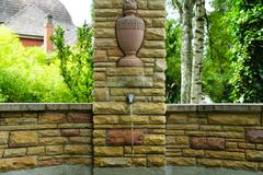 Fountain at cemetery by crematorium in tuttlingen Royalty Free Stock Photography