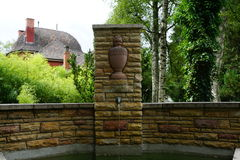 Fountain at cemetery by crematorium in tuttlingen Royalty Free Stock Photos