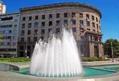 Fountain in center of Belgrade Stock Photo