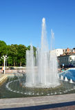 Fountain in the center of city Kharkiv Royalty Free Stock Image