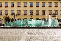 Fountain in center of Wroclaw, Poland Royalty Free Stock Photography