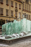 Fountain in center of Wroclaw, Poland Royalty Free Stock Photo