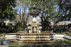 The fountain of central park at Antigua Royalty Free Stock Photos