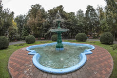 Fountain in Central Park in Targu Jiu