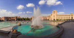 The fountain on a central square Stock Images