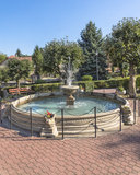 Fountain in  centre of  small town Stock Photography