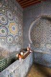 Fountain with ceramic mosaics Royalty Free Stock Photos