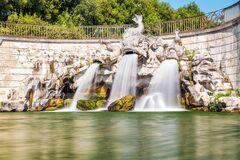 Fountain of the three Dolphins in Caserta, Italy