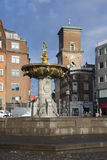 The fountain of Charity (Caritas Well) in the Old square. Copenhagen Stock Images