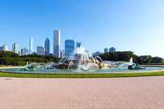 Fountain in chicago downtown Stock Photography
