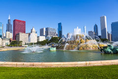 Fountain in chicago downtown Royalty Free Stock Images