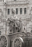 Fountain of Cibeles in Madrid Stock Images