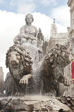 Fountain of Cibeles in Madrid Royalty Free Stock Images