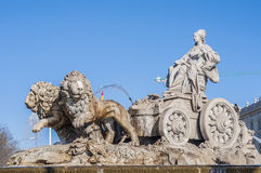 The fountain of Cibeles in Madrid, Spain. Royalty Free Stock Image