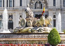 Fountain of Cibeles in Madrid, Spain royalty free stock image