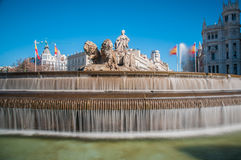 The fountain of Cibeles in Madrid, Spain. Stock Images