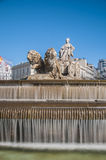 The fountain of Cibeles in Madrid, Spain. Royalty Free Stock Photos